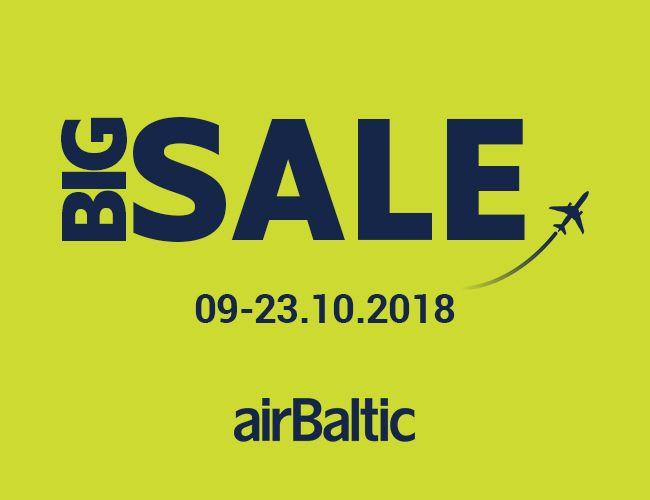 airBaltic: Big Sale kuni 23.10