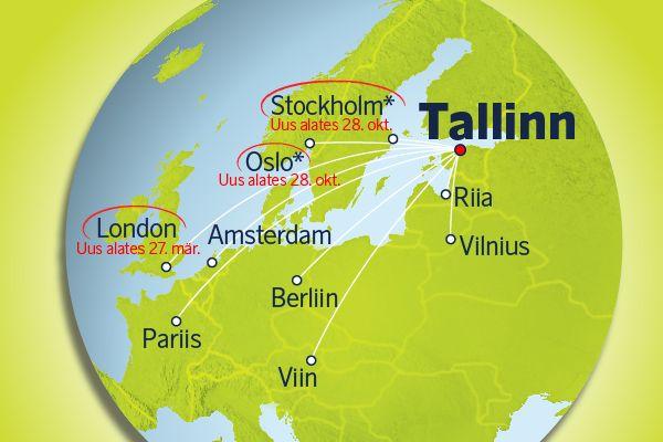 airBalticu uued otselennud Tallinnast