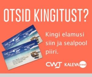 CWt Kaleva Traveli kinkekaart