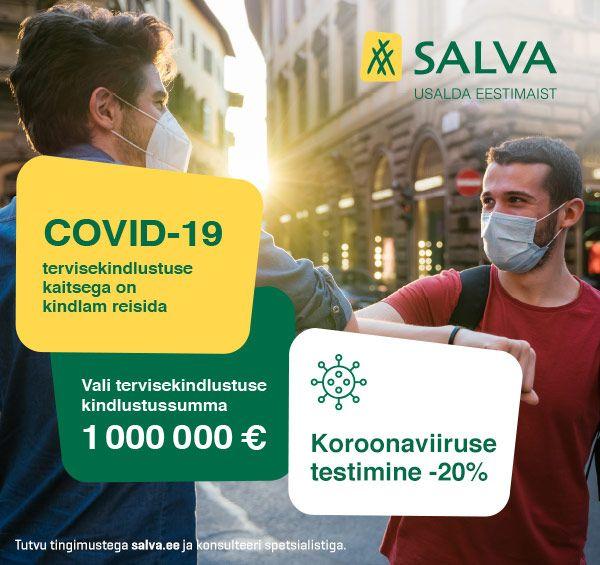Salva reisikindlustusega koroonatest -20%!