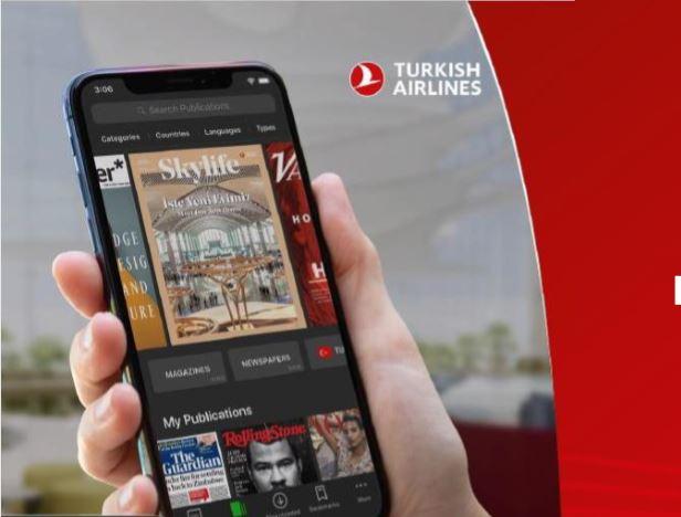 Turkish Airlinesi lennul saad nüüd tasuta lugeda tuhandeid ajalehti ja ajakirju